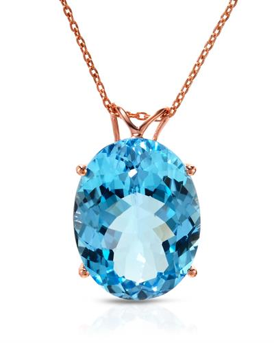 Brand New Necklace with 20.2ctw topaz 925 Rose sterling silver