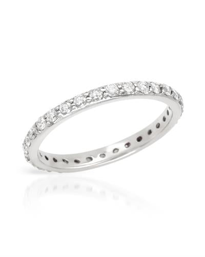 Brand New Ring with 0.6ctw diamond 14K White gold