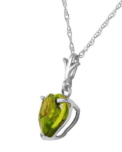 Magnolia Brand New Necklace with 1.15ctw peridot 14K White gold