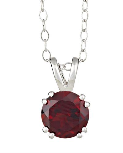 Brand New Necklace with 1.6ctw garnet 925 Silver sterling silver
