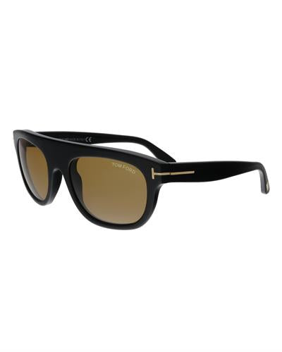 Tom Ford FT0594 01E Federico-02 Brand New Sunglasses  Black plastic