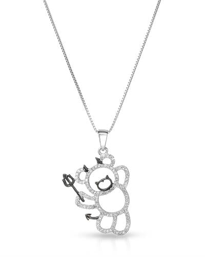 Brand New Necklace with 0.35ctw diamond 925 Silver sterling silver