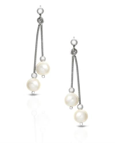 Millana Brand New Earring with 0ctw pearl 925 Silver sterling silver