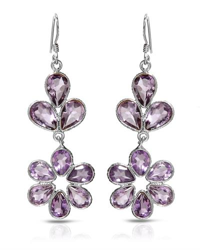 Brand New Earring with 12.85ctw amethyst 925 Silver sterling silver