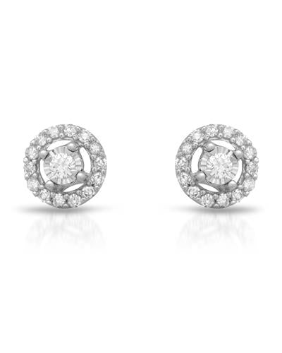 Whitehall Brand New Earring with 0.15ctw diamond 14K White gold