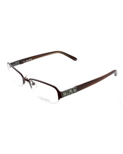 VERA WANG V 040 BU 50 Brand New Eyeglasses with 0ctw crystal  Red plastic