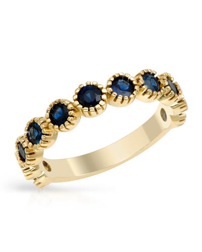 Brand New Ring with 1.2ctw sapphire 14K Yellow gold