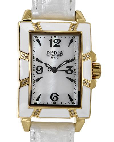 DEDIA 6201LR010 Lily LR Brand New Swiss Quartz Watch with 0.08ctw of Precious Stones - diamond and mother of pearl