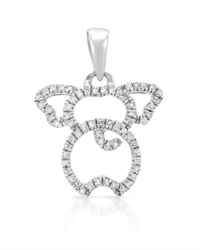 Lundstrom Brand New Pendant with 0.12ctw diamond 925 Silver sterling silver