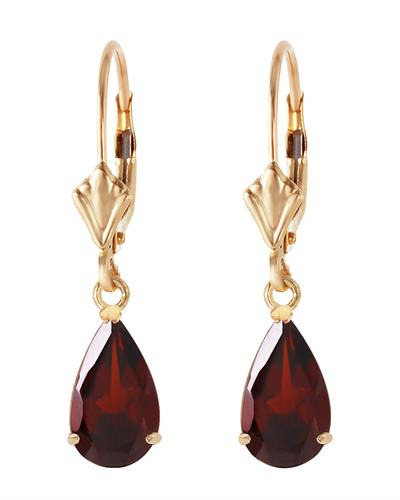 Magnolia Brand New Earring with 2.45ctw garnet 14K Yellow gold