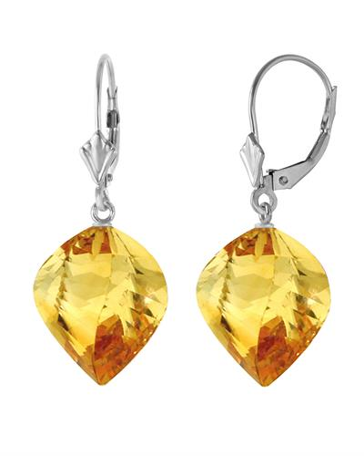 Magnolia Brand New Earring with 23.5ctw citrine 14K White gold