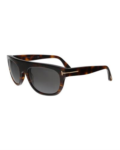 Tom Ford FT0594 52A Federico-02 Brand New Sunglasses  Havana plastic