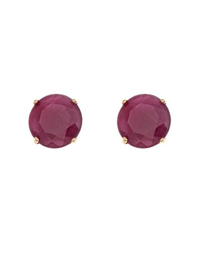 Brand New Earring with 1.4ctw ruby 14K Yellow gold