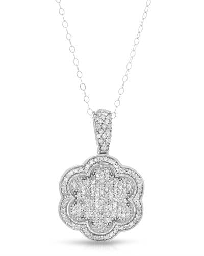 Brand New Necklace with 0.55ctw diamond 10K White gold