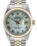 Rolex PreOwned Automatic (Self Winding) date Watch with 0ctw mother of pearl