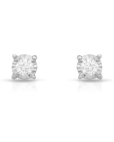 Whitehall Brand New Earring with 0.25ctw diamond 14K White gold