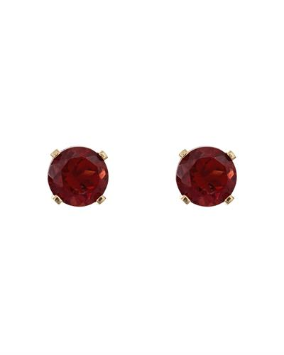 Brand New Earring with 0.6ctw garnet 14K Yellow gold