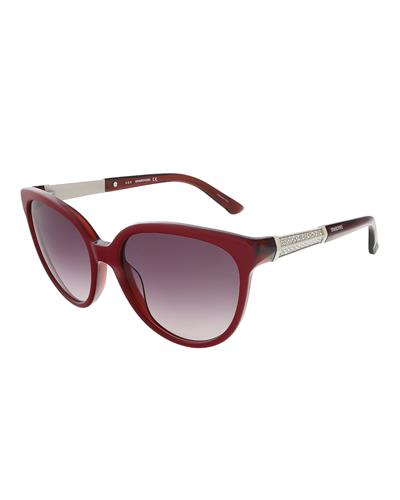 SWAROVSKI SK0082/S 66T Brand New Sunglasses with 0ctw crystal  Burgundy plastic