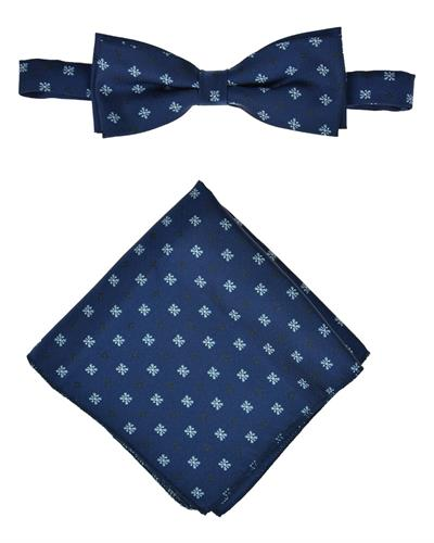 Victorio Brand New Tie  Blue Cotton and  Blue Polyester