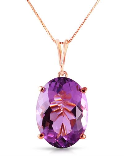 Magnolia Brand New Necklace with 7.55ctw amethyst 14K Rose gold