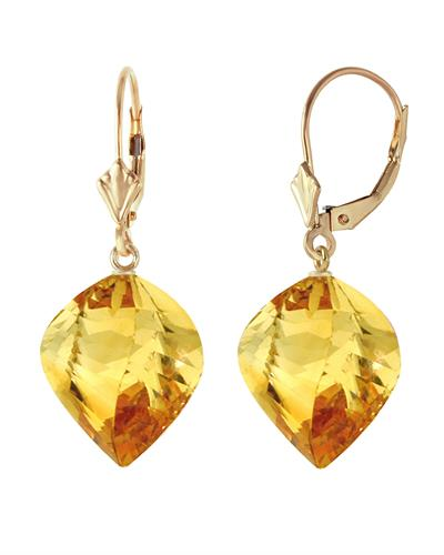 Magnolia Brand New Earring with 23.5ctw citrine 14K Yellow gold