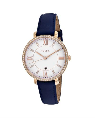 Fossil Jacqueline Brand New Quartz date Watch with 0ctw crystal