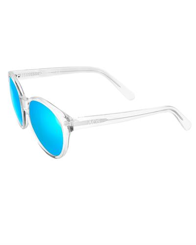 AQS DAI009 Teal Daisy Brand New Sunglasses  Silver plastic