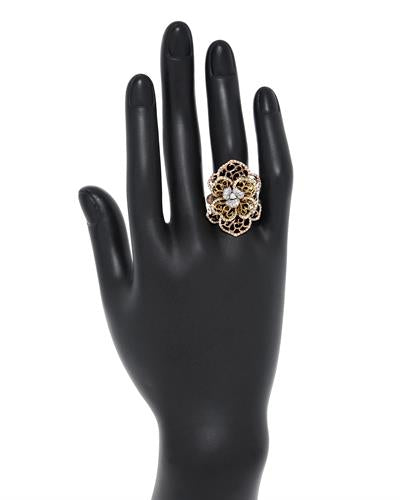 Brand New Ring with 0.94ctw diamond 18K Three tone gold