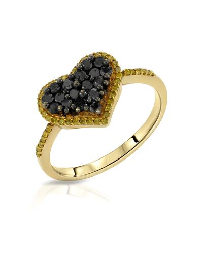 Lundstrom Brand New Ring with 0.59ctw of Precious Stones - diamond and diamond 10K Yellow gold