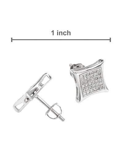 Lundstrom Brand New Earring with 0.33ctw diamond 14K White gold