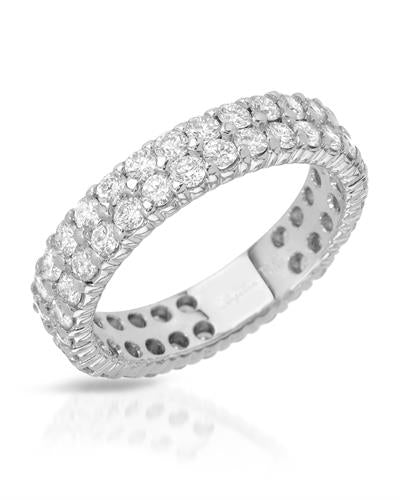 Julius Rappoport Brand New Ring with 2.05ctw diamond 18K White gold