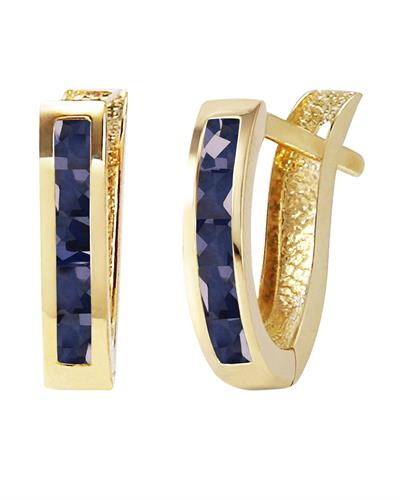 Magnolia Brand New Earring with 1.3ctw sapphire 14K Yellow gold