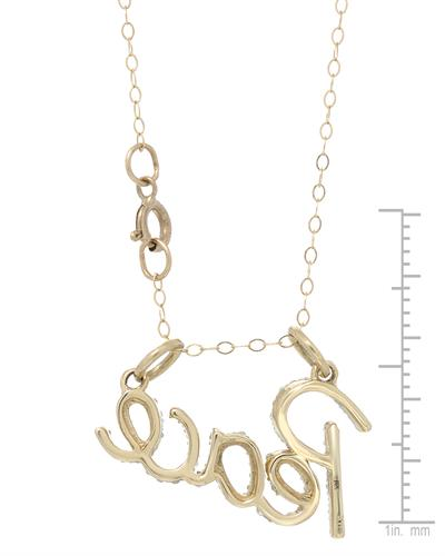 Brand New Necklace with 0.25ctw diamond 10K Yellow gold