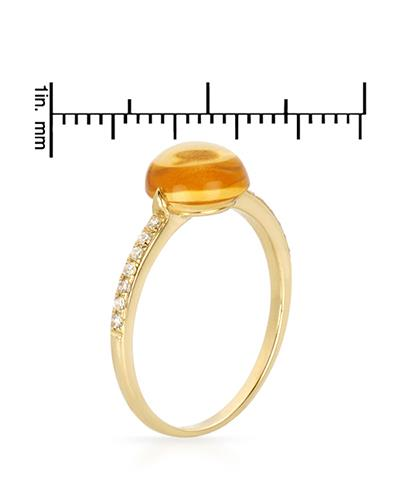 Brand New Ring with 2.58ctw of Precious Stones - citrine and diamond 14K Yellow gold