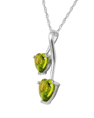 Magnolia Brand New Necklace with 1.4ctw peridot 925 Silver sterling silver