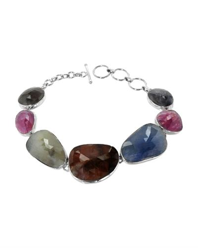 Brand New Bracelet with 75.09ctw sapphire 925 Silver sterling silver