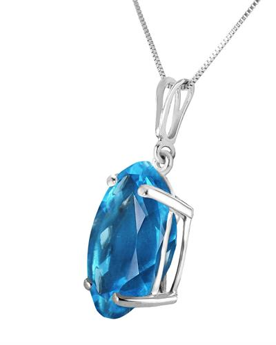 Magnolia Brand New Necklace with 8ctw topaz 14K White gold