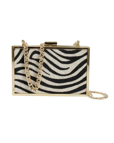 Roberto Cavalli HXLPA7 200 Brand New Clutch  Two tone Genuine Calf Leather and  Two tone leather
