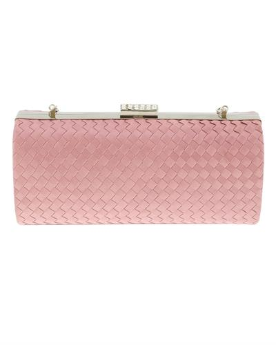 Scheilan Brand New Clutch with 0ctw crystal  Rose Fabric