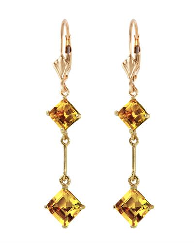 Magnolia Brand New Earring with 3.75ctw citrine 14K Yellow gold