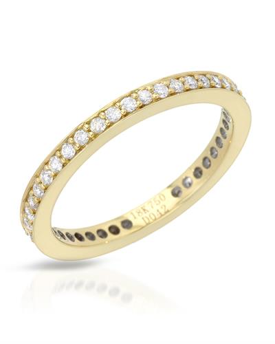 Julius Rappoport Brand New Ring with 0.42ctw diamond 18K Yellow gold