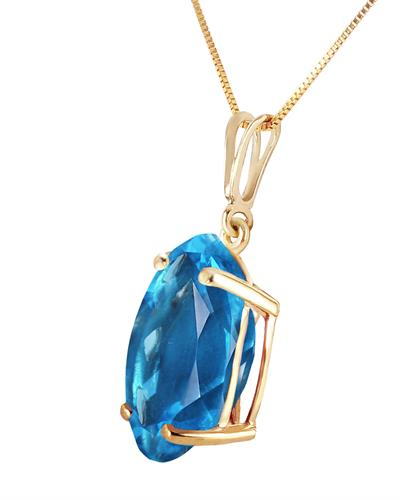Magnolia Brand New Necklace with 8ctw topaz 14K Yellow gold
