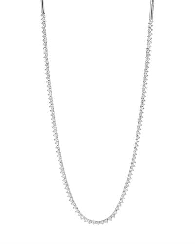 Julius Rappoport Brand New Necklace with 1.97ctw diamond 14K White gold