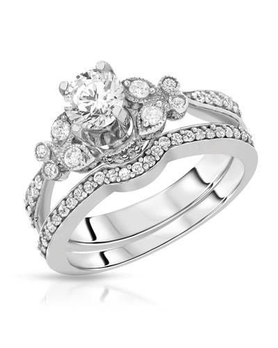 Brand New Ring with 1.25ctw of Precious Stones - cubic zirconia and cubic zirconia 925 Silver sterling silver