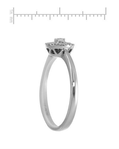 Brand New Ring with 0.12ctw diamond 18K White gold