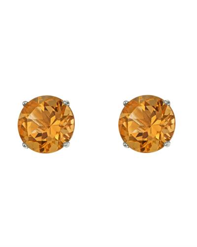 Brand New Earring with 2.6ctw citrine 925 Silver sterling silver