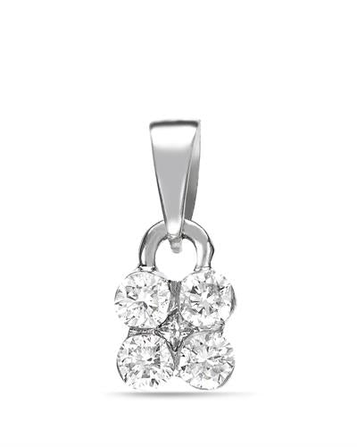 Brand New Pendant with 0.26ctw diamond 14K White gold