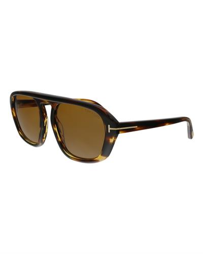 Tom Ford FT0634 52E David-02 Brand New Sunglasses  Havana plastic