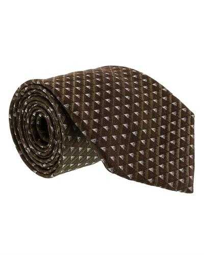 Gianfranco Ferre J092 U4J Brand New Tie  Brown Silk