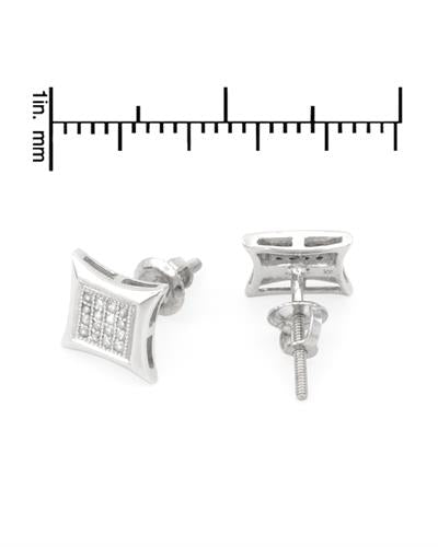 Lundstrom Brand New Earring with 0.13ctw diamond 14K White gold